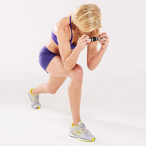 Split-Squat Curl B