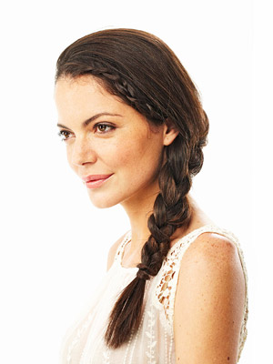 loose side braid hairstyle