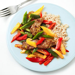 Caribbean Steak and Vegetables With Coconut Rice