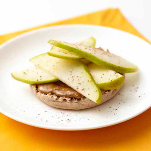 Pear and Almond Butter English Muffin