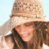 woman wearing a sun hat
