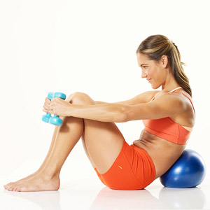 Core Flex B with dumbells and ball