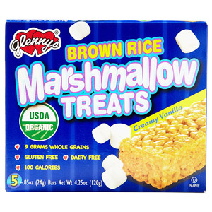 Glenny's Creamy Vanilla Brown Rice Mashmallow Treats