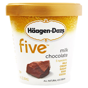 Haagen-Dazs Milk Chocolate Five