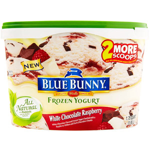 Blue Bunny White Chocolate Raspberry All Natural Frozen Yogurt