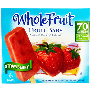 Whole Fruit Strawberry Fruit Bars