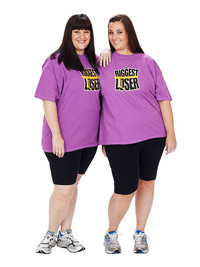 Biggest Losers Olivia Ward and Hannah Curlee before weight loss