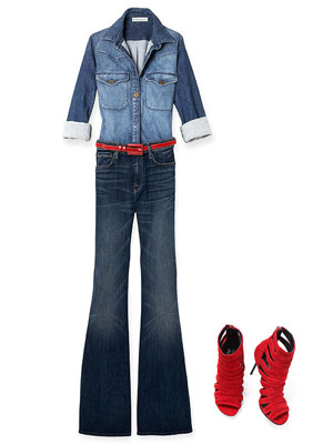 How to wear denim for full hips, Donald J. Pliner Marvel Shoes