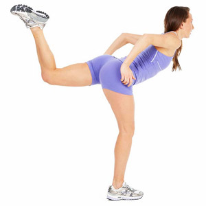 Lunge Leg Lift exercise