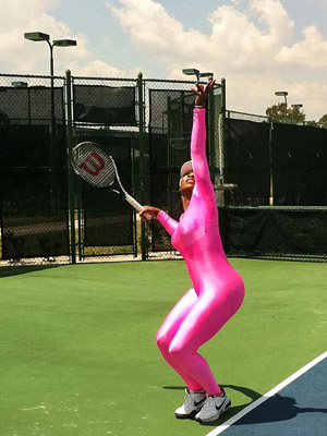 Serena Williams in a Bodysuit