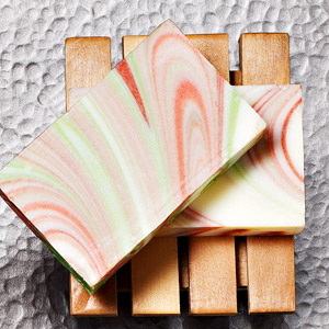 Lather Peppermint Swirl Soap Set