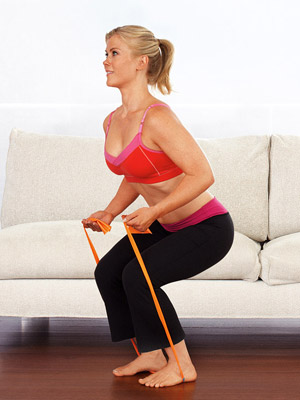 Curl n Squat exercise