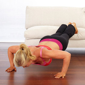 Decline Push Up Exercise