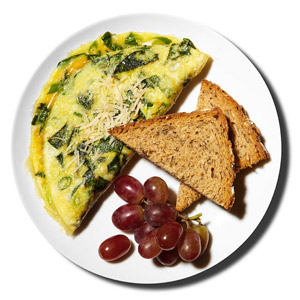Spinach-and-Parmesan Omelet
