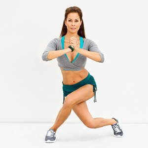 Criss Cross Lunge Exercise