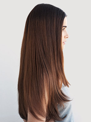 Sleek, straight hair