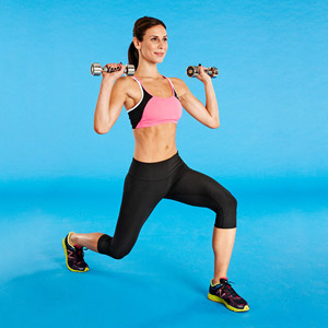 Lunge Shoulder Press exercise