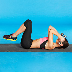 Triceps Extension Reverse Sit-Up