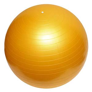 yellow stability ball