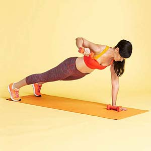 Plank Press exercise