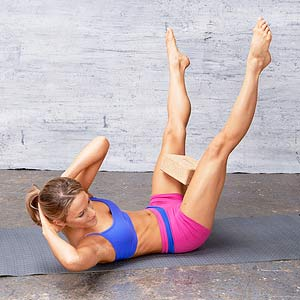 Wide-Legged Criss-Cross exercise