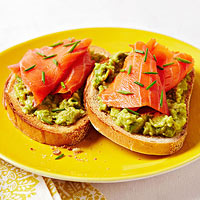 Smoked Salmon and Avocado on Rye recipe