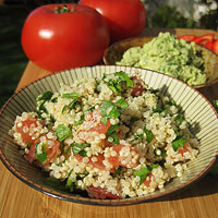 Quinoa Tabbouleh with hummus
