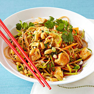Spicy Thai Noodles With Tofu recipe