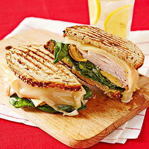 Chicken, Spinach and Artichoke Panino recipe