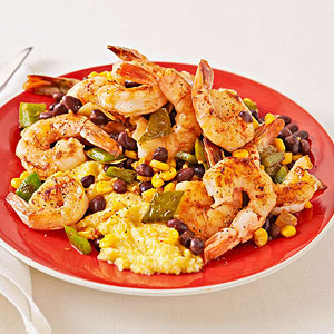 Cajun Shrimp With Polenta recipe