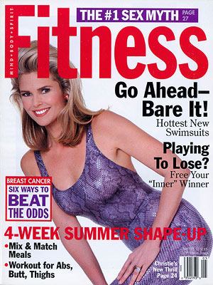 Christie Brinkley FITNESS cover