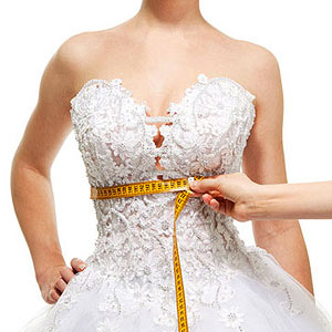 Wedding dress fitting