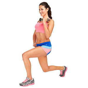 Cheerleader Lunge exercise