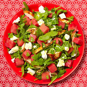Chicken salad with watermelon