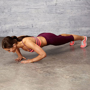 Triangle Push-up exercise