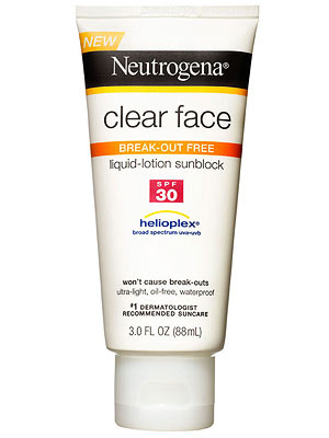 Neutrogena face sunblock