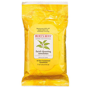 Burt's Bees cleansing towelettes