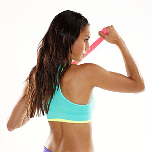 Resistance band arm exercise