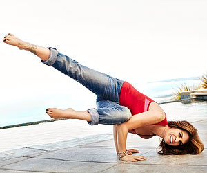 Jillian Michaels doing a yoga pose