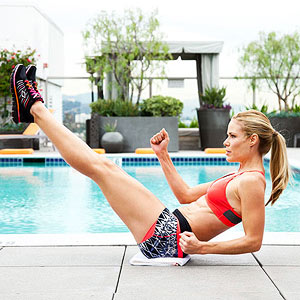Running V-Sit exercise