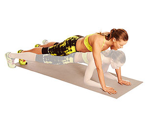 Plank Straddle Hop exercise