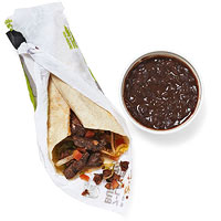 Fast food burrito meal