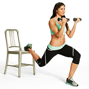 Split-Squat Curl