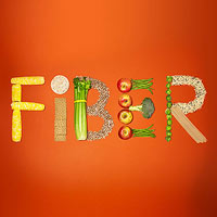 Fiber spelled out
