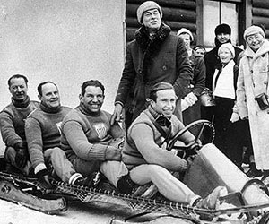 Eddie Eagan and bobsled team