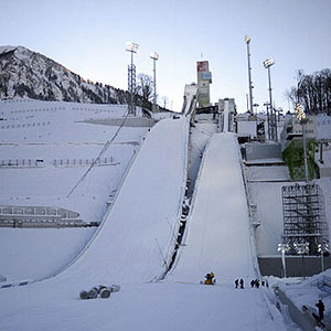 Ski jumps at Krasnaya Polyana