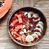 Pumpkin Papaya Superfood Acai Bowl