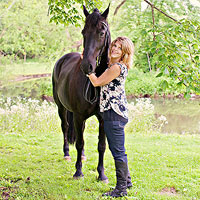 Jackie Stees with horse