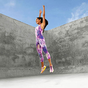 Girl jumping, workout