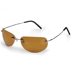 Hammacher Schlemmer Clarity Enhancing Sunglasses with Titanium Frame